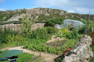 Part of Garden with Polytunnel Entrance