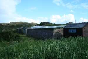 The Huts (residences for Josef, Adam and Rosaidh and Kayak Shed)