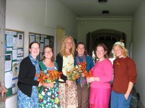 Kate, Amy, Mrs. Turkadactyl, Emily, Dot, and Sophia (Sweden)