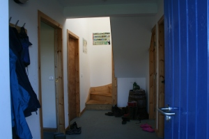 The doorway to the staff quarters