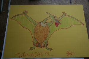 This is my interpretation of a Turkadactyl