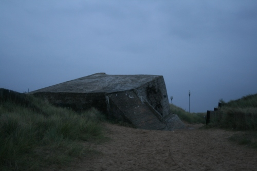 A damaged German fortification on Juno Beach.