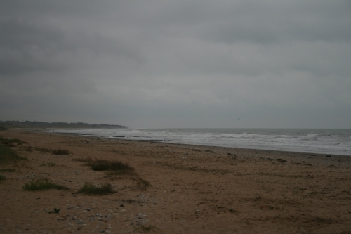 Courseulles-sur-Mer.  This is Juno beach, Canadian sector.