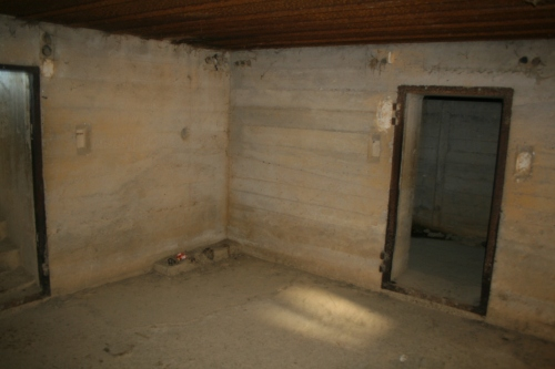 Inside the observation post.