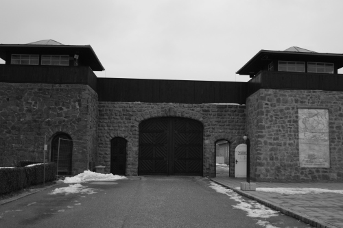 The front gate to the Mauthausen camp.