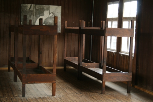 Inside the youth barracks.