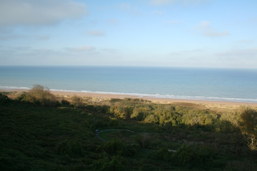 Omaha Beach- the US Military Cemetary was establihed at the bloodiest part of Omaha