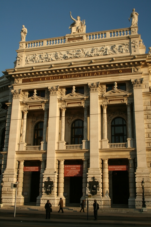 K.K. Hofburg Theatre.  Many of the buildings in Vienna can be considered art.  The amount of detail that went into them were phenomenal.