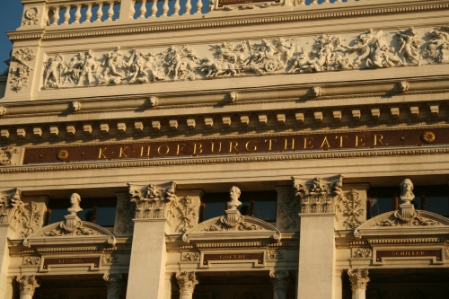 A closer view of the K.K.Hofburg Theatre.