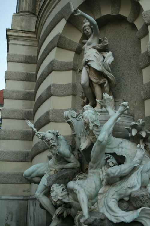 In case you haven't noticed yet the statues have strategically placed leaves or garments over their crotches.  They all seem to have mysteriously lost their tops though.