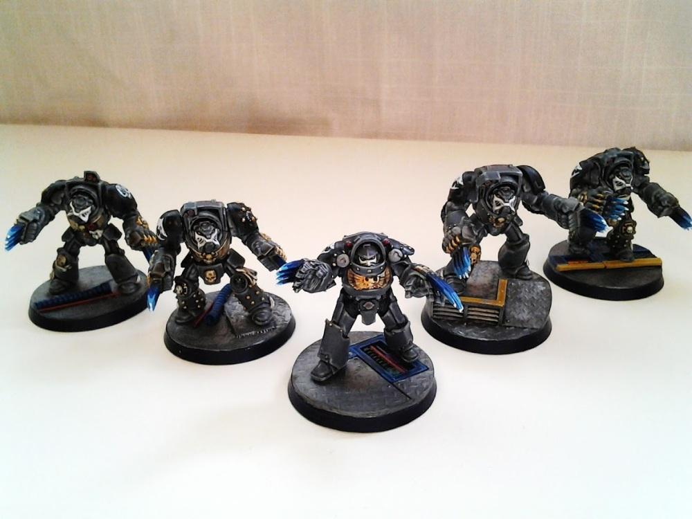 Space Marine Carcharodons- Red Brethren Terminators (1/3)