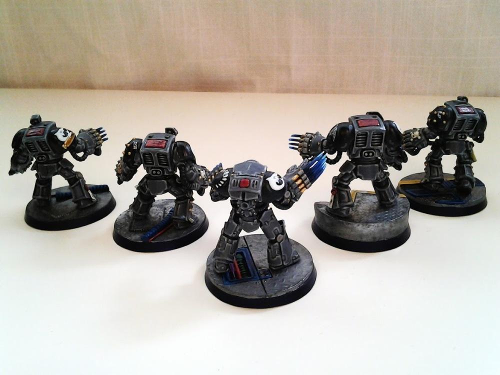 Space Marine Carcharodons- Red Brethren Terminators (2/3)