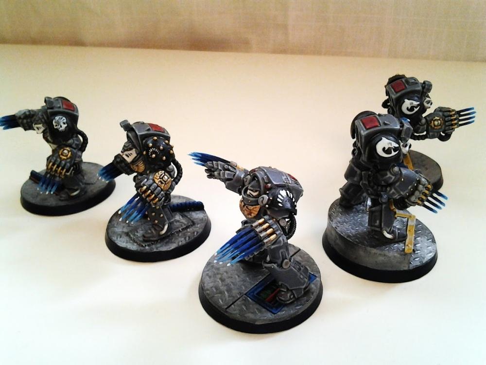 Space Marine Carcharodons- Red Brethren Terminators (3/3)