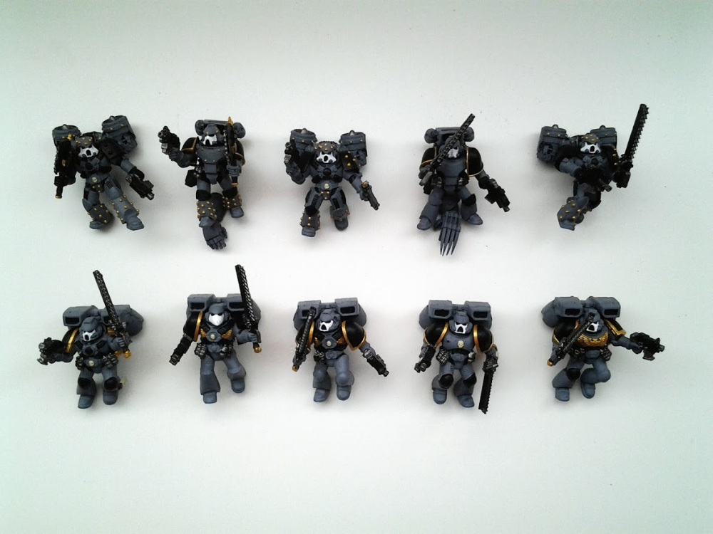 Space Marines Carcharodons- Assault Marines WIP (1/4)