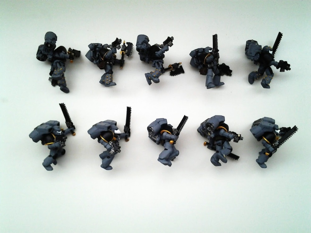 Space Marines Carcharodons- Assault Marines WIP (2/4)