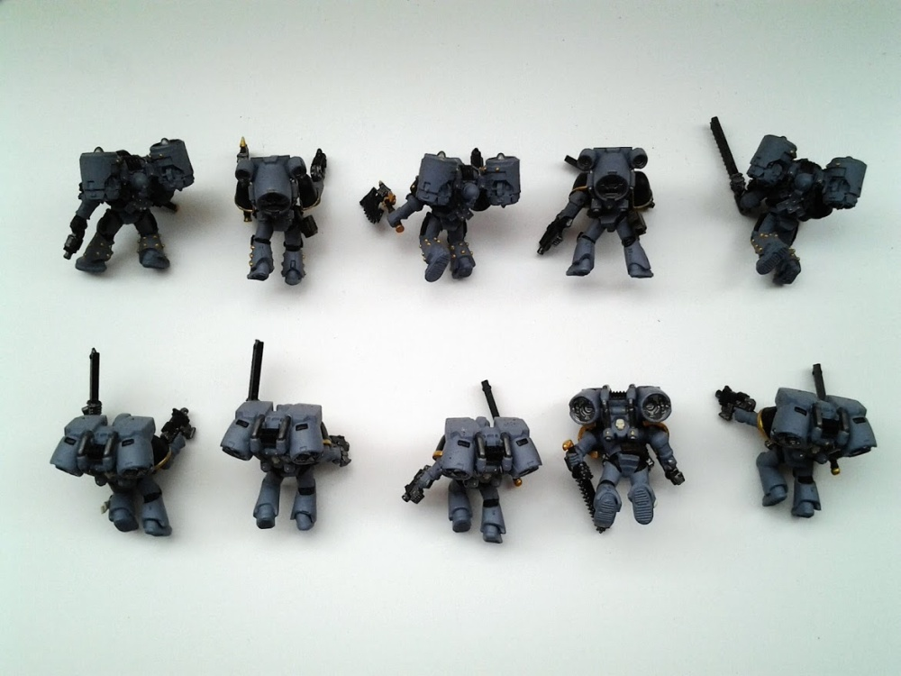 Space Marines Carcharodons- Assault Marines WIP (3/4)