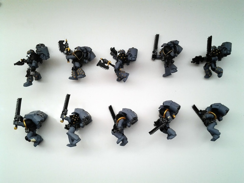 Space Marines Carcharodons- Assault Marines WIP (4/4)